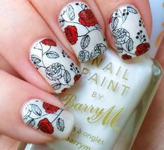 Born Pretty Nail Art Water Decals Transfer Stickers Red Rose Flower Tips W06 #ebay #Fashion