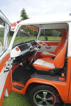 73 late bay campervan Volkswagen Bus, Vw Camper, Campervan Interior, Truck Interior, Transporter Van, Kombi Home, Truck Mods, Combi Vw, Cute Cars
