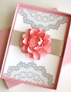 Flowers and Lace Boxed Invitation. $10.50, via Etsy.