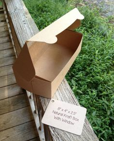 """BULK • 100 Each • 8"""" x 4"""" x 2-1/2"""" Brown/Brown One Piece Lock & Tab Box With Window • Donut Box  • Cookie Box • Wedding Favors • Food Safe by TheBakersBin on Etsy"""