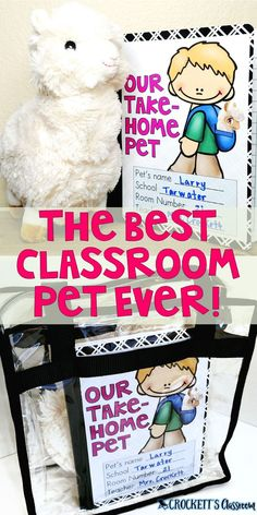 Do your students want a classroom pet, but you don& want the mess? Do your students want a classroom pet, but you don& want the mess? Then I have the perfect pet for you! Classroom Pets, First Grade Classroom, Future Classroom, Classroom Activities, Preschool Classroom Management, Pre School Classroom Ideas, Kindergarten Classroom Organization, Writing Activities, Elementary Classroom Themes