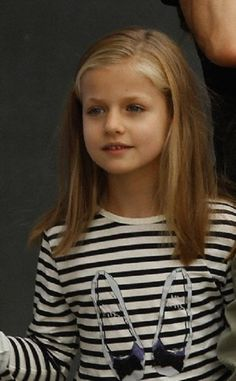 Infanta Leonor of Spain after visiting her Grandfather King Juan Carlos in the hospital in Madrid 27.09.13