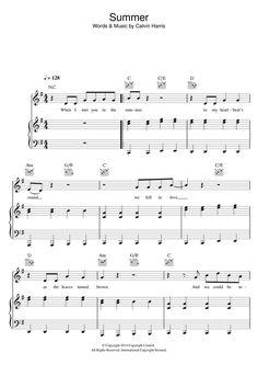 Piano By Ear Songs - Summer by Calvin Harris Piano, Vocal Sheet Music Direct, Digital Sheet Music, Music Is Life, My Music, Calvin Harris Summer, Partition Piano, Piano Sheet Music, Music Sheets, Easy Piano