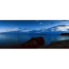 Rocks in the lake Lake Pielinen Lieksa North Karelia Eastern Finland Finland Canvas Art - Panoramic Images (27 x 9)