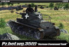 "Academy Model Kit 1/35 Pz.bef.wg.35[t] ""German Command Tank"" 2 Figures #13313 #Academy"