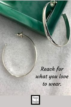 """Nov 27, 2020 - Handmade wider oval post hoop earrings are for those of you who like post hoop earrings that make a simply elegant statement. They have a polished domed outer surface and are made from sterling silver. SIZE: Length is 1 1/2"""" and Width is 1 1/4"""""""
