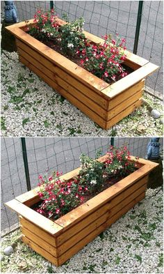 reused wood pallet planter