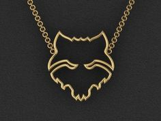 Red Wolf Necklace by Gameday Runway www.gamedayrunway.com