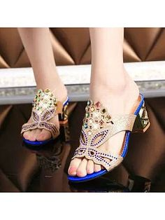 0f864ca16 2015 summer new Korean style thick heel sandals and slippers female fish  head diamond diamond women sandals and slippers