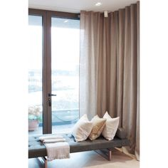Lilja is a tightly woven, fine-threaded and elegant pure linen curtain. Suitable for use with Kirsch Flexi to create a lounge-like atmosphere or to screen off a room. Curtain with heading tape with multi-function. Swedish Interior Design, Swedish Interiors, Cottage Kitchen Cabinets, Kitchen Drawing, Curtain Headings, Kitchen Time, Interior Design Companies, Small Room Bedroom, House Doctor