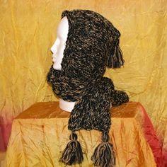 kapuco šála - černo béžová