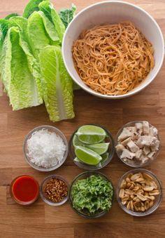 Crunchy Thai Lettuce Wraps.
