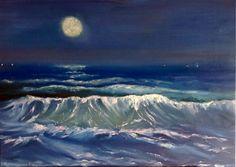 Original Oil Painting On Canvas/Oil Painting/NIGHT от UkrHeart