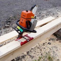 The Boardmaster Chainsaw Attachment is a portable sawmill or chain-saw -mill. This tool requires drilling your saw bar.   The unit will bolt onto Stihl, Husquarna and other brands of chain saws. The boardmaster can be a helpful tool to cut cabin logs, beams, bar tops, custom sawing, barn wood, and rustic furniture. Will saw as long as needed, add guide boards to desired lengths.   #hudsonforestequipment #hfe #tools #chainsaw #sawmill #homemade #homestead #woodworking #DIY #offgridliving