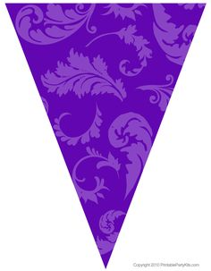 Purple Party Decorations | Free Graduation Party Flag Decorations | Printable Party Kits