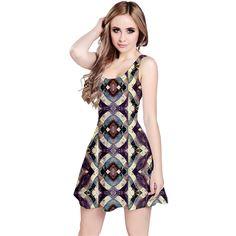 Geometric Grunge Print Reversible Sleeveless Dress by #dflcprints