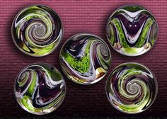 Mottled Chevron - Lime Purple Marbles!!!
