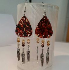 Check out this item in my Etsy shop BETSY'S JEWELRY  https://www.etsy.com/listing/235321569/betsys-jewelry-guitar-pick-earrings