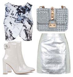"""Untitled #2576"" by evalentina92 ❤ liked on Polyvore featuring Topshop, Valentino and Gianvito Rossi"