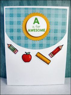 School Card by MasonJarCards on Etsy