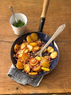 Bratkartoffeln, schnell, einfach und super lecker