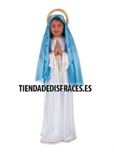 Disfraz de Virgen Maria Saints Days, Cyberpunk, Costumes, Disney Princess, Clothes, Virgo, Molde, Saints, Xmas