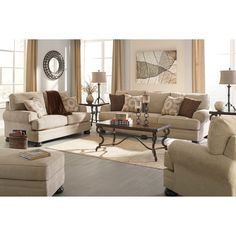 Montgomery Mocha Stationary Living Room Group By Ashley