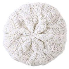 Bonnet tricot torsadé femme - Écru- Vue 1