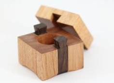More Wooden Ring Boxes The Slider Queensland Maple Ring Box Woodworking Box, Woodworking Projects, Wooden Ring Box, Small Wood Projects, Puzzle Box, Diy Holz, Into The Woods, Wooden Gifts, Wood Plans