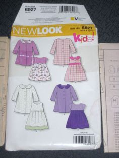 New-Look-6927-Girls-Coat-Dress-Size-1-2-1-2-3-4-Easter-Sunday-School-Party