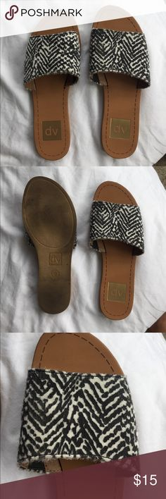 DV by dolce vita slip ones No worn a few times in great condition. Elastic band for stretching as shown in pics DV by Dolce Vita Shoes Sandals
