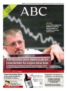 La portada de ABC del 22 de julio