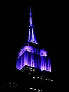 ESB Coloring Purple at Night