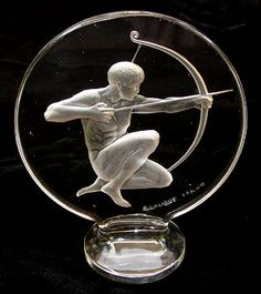1926 Lalique Archer Hood Ornament