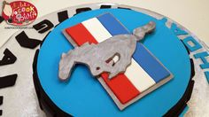 My adventures in cake baking continue with a Ford Mustang Logo cake. Mustang Cake, Ford Mustang Logo, Tire Cake, Cake Logo, Food Displays, Cake Baking, No Bake Cake, Birthday Ideas, Cakes