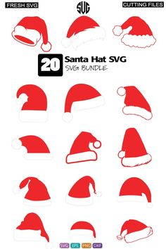 Santa Hat Clipart, Stencils For Wood Signs, File Format, Handmade Home Decor, Silhouette Design, Plexus Products, Invitation Design, Collage Drawing, Cricut Design