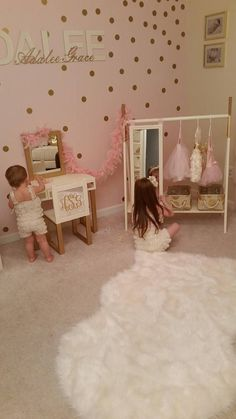 This adorable custom made dress up wardrobe rack with attached full length mirro… - Baby room Toddler Rooms, Baby Boy Rooms, Little Girl Rooms, Baby Room, Girl Nursery, Girls Bedroom, Girl Toddler Bedroom, Toddler Princess Room, Bedroom Ideas