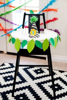 Modern Rainbow Safari Birthday Party