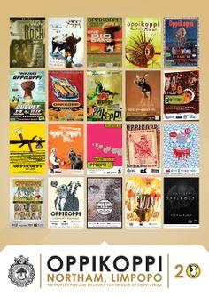 Oppikoppi se campaign posters die afgelope 20 jaar
