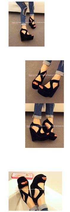 Negro color de zapatos de las mujeres de moda las sandalias cómodo zapatos de plataforma delgada de alta de