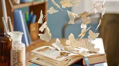 How to make a paper butterfly sculpture