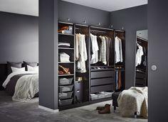 10 ambiances de dressing pour shopping addict achats armoires et assaisonn - Dressing ouvert ikea ...