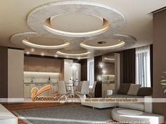 15 Ý tưởng thiết kế trần nhà đẹp từ trần thạch cao 14