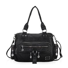 Hynes Victory Multiple Storage Pockets Cross Body Handbags Black *** Want to know more, click on the image.