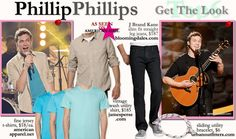 Phillip Phillips - #AmericanIdol Top 6 - bright shirt and all-black shirt and jeans