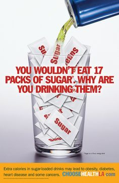 Energy Drink - You wouldn't eat 17 packs of sugar. Why are you drinking them? - ChooseHealthLA.com