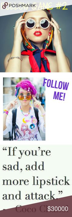 New Follow Game By The Fatbottom Gypsy! Let's get this going!    Hope you are all having a fantastic day!  Let's grow together.   Share, share, share....  Thank you for stopping by my closet! Best wishes from The Fatbottom Gypsy! The Fatbottom Gypsy  Other