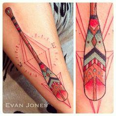 Canoe Paddle Tattoo