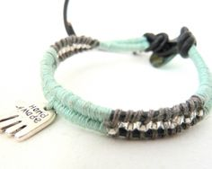 Teenage wrap bracelet.  http://www.alittlemarket.com/boutique/amamelisse-284530.html