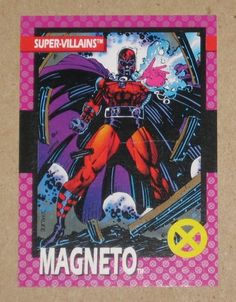 X-Men Series 1 (Impel 1992) Card #41 Magneto VG